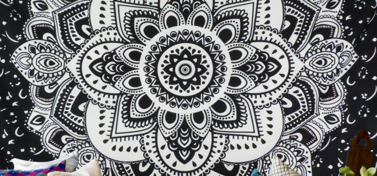 Boho Chic Accessories, Bohemian Style Accessories, Mandala Wall Tapestry