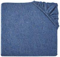 AmazonBasics Heather Jersey Fitted Crib Sheet, Chambray, Baby Boy Blue Crib Sheets