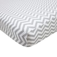 """Fitted Knit Crib Sheet - Best Crib Sheet for Baby - Infant   Toddler 100% Cotton Jersey Knit Deep Fitted Bed Sheet (28"""" X 52"""" (STANDARD CRIB), Zigzag Grey)"""