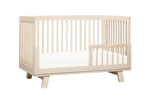 Babyletto Hudson 3-in-1 Convertible Crib to Day Bed, Washed natural