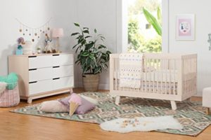 Babyletto Hudson 3-in-1 Convertible Crib with 6 Drawer Dresser, Washed natural