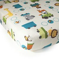 Bedtime Originals Crib Fitted Sheet, Choo Choo baby boy crib bedding