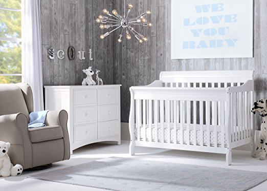 Delta Children Canton 4- in-1 Convertible Crib, Bianca,White - Best Cribs for Babies and Safest Crib on the Market