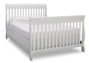 Delta Children Canton 4- in-1 Convertible Crib, Bianca,White