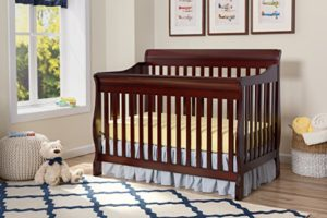 Delta Children Canton 4-in-1 Convertible Crib, Best Baby Cribs, Espresso Cherry