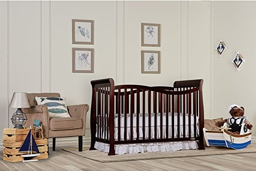 Dream On Me Violet 7 in 1 Convertible Life Style Crib, Espresso - Best Cribs for Babies and Safest Crib on the Market