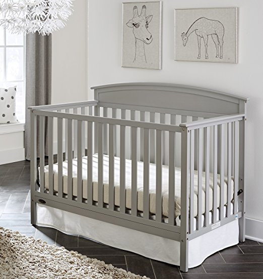 Graco Benton Convertible Crib, Pebble Gray - Graco Best Cribs for Babies and Safest Crib on the Market
