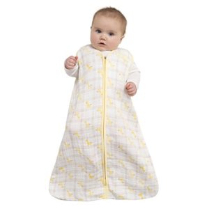 HALO 100% Cotton Muslin Sleepsack Wearable Blanket, Giraffe Plaid, Medium