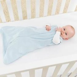 Best Baby Sleep Sack - HALO SleepSack Micro-Fleece Wearable Blanket, Baby Blue, Medium