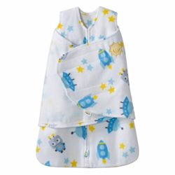 Halo Blue Robot SleepSack Swaddle Wearable Blanket, Micro-Fleece, Small
