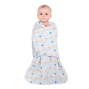 Halo Sleep Sack Swaddle, Micro-Fleece, Plus-Signs Multicolor, Small 2