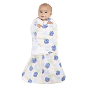 Halo - Sleepsack 3-way Adjustable Baby Swaddle, Micro-Fleece - Apricot Starbursts, Newborn 2