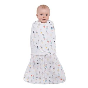 Halo Sleepsack Swaddle, 100% Cotton, Triangle Neutral, Multi, Small 1