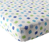 Luvable Friends Geometric Print Fitted Knit, Best Crib Sheets, Blue