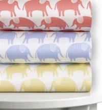 Magnolia Organics Printed, Best Crib Sheets, 300 Thread Count - Standard, Sky