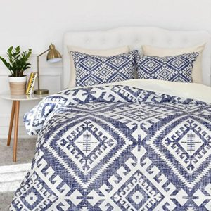 Merryfeel 100% cotton Digital Printing Duvet Cover Set- Blue - Full-Queen