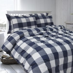 Merryfeel 100% cotton yarn dyed Duvet Cover Set - Full-Queen Navy