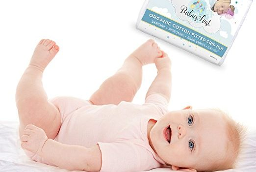 Organic Cotton Crib Mattress Protector Waterproof, - Soft & Breathable Infant fitted pad-cover- Fits Most Baby Crib Mattresses - Best Baby Shower Gift