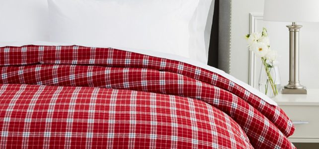 Pinzon Plaid Queen Size Flannel Sheet Set and Flannel Duvet Cover Review (November 2017)
