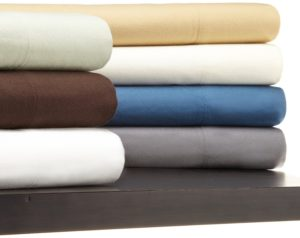 Queen Size Flannel Sheet, Pinzon Bedding, Flannel Pillowcases, 190 Gram Heavyweight Velvet - Standard, Italian Roast