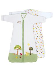 Slumbersafe Winter Baby Sleeping Bag Long Sleeves 3.5 Tog - Forest Friends, 0-6 months SMALL