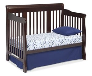 Stork Craft Tuscany 4-in-1 Convertible Crib Toddler Bed, Espresso