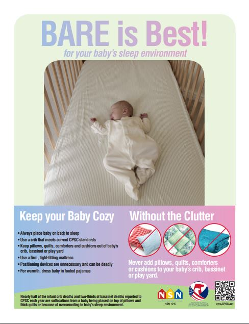 bare is best keep your baby safe of SID