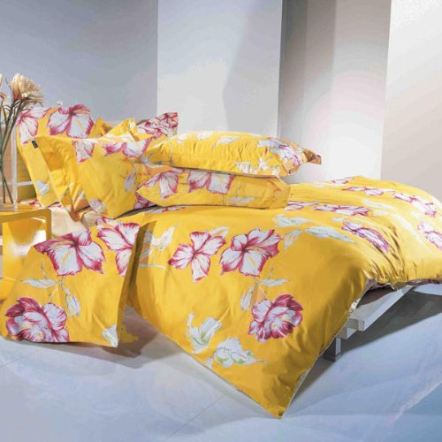 Autumn - Duvet Cover Set, Full-Queen Yellow Bedding