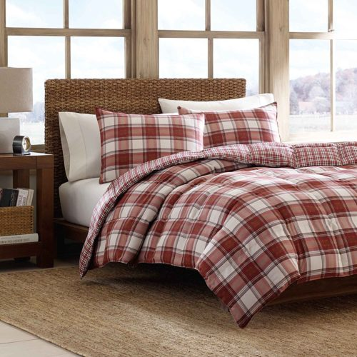 Eddie Bauer Edgewood Plaid Down Alternative Reversible Comforter Set, Full-Queen, Red - Best Rated Eddie Bauer Comforter Set