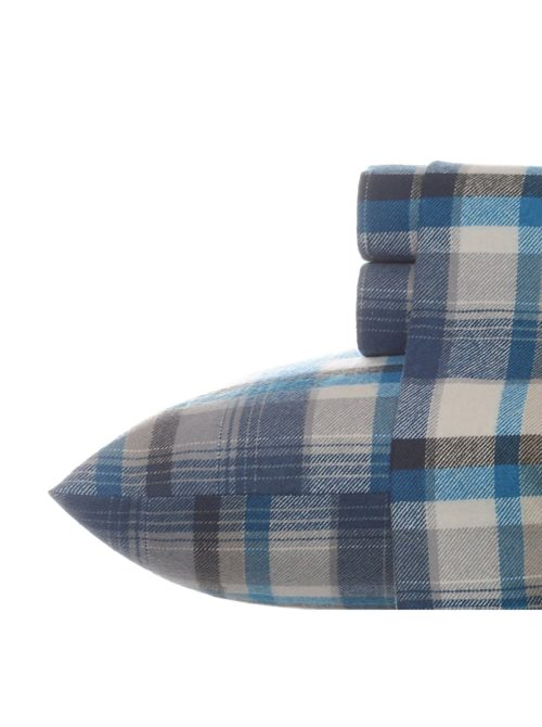 Eddie Bauer Warm Soft Flannel Sheet Set, Queen, Spencer Plaid