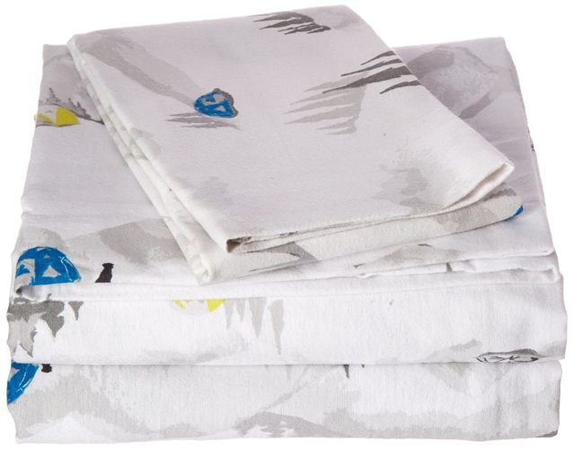 Eddie Bauer Flannel Sheet Set, Twin, Base Camp