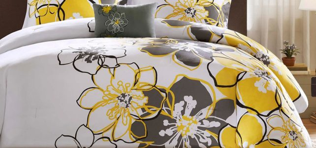 Yellow Floral Bedding
