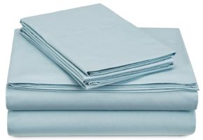 Pinzon 300-Thread-Count Percale Sheet Set - King, Spa Blue 2