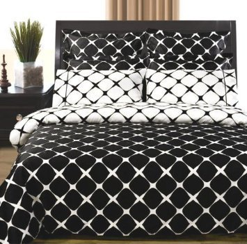 elegant black and white bedding ideas - 3PC Bloomingdale Black and White Twin Extra Long Comforter set Include 2pc Duvet Cover Set + 1pc Down Alternative Comforter