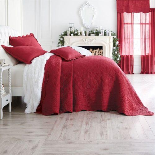 Burgundy Bedspreads - Brylanehome Florence Bedspread (Burgundy,King)