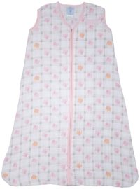 Halo 100% Cotton Muslin Sleepsack Wearable Blanket, Elephant Plaid