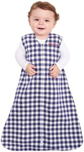 Halo Sleepsack, 100% Cotton, Buffalo Check, Navy, Medium