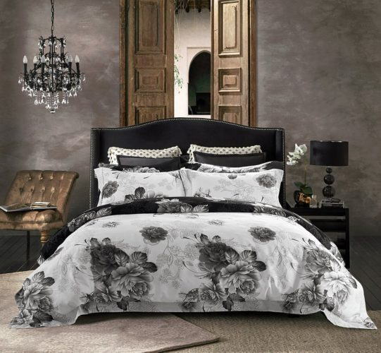 Jieshiling Cotton Wrinkle Count Egyptian Quality Duvet Cover Set, King-Queen,TWO Colors (queen, white)