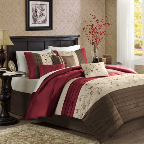 Madison Park MP10-308 Serene Comforter Set King Brick,King