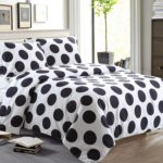 Elegant Black and White Bedroom Ideas - black and white polka dot bedding queen - NTBAY 3 Pieces Duvet Cover Set Printed Microfiber Design(Queen, Polka Dots)