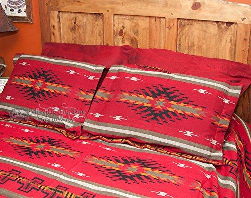 Burgundy Bedspreads - Southwestern Bedspread - Santa Clara KING