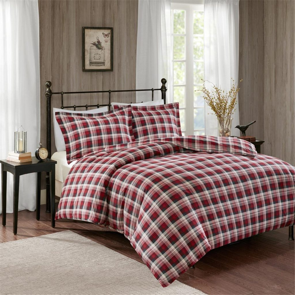 Woolrich Tasha Flannel Duvet Mini Set Red Queen
