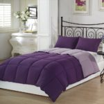 Purple Bedding Ideas - Chezmoi Collection 3-Piece Purple Lilac Super Soft Goose Down Alternative Reversible Comforter Set, Queen-Full Size