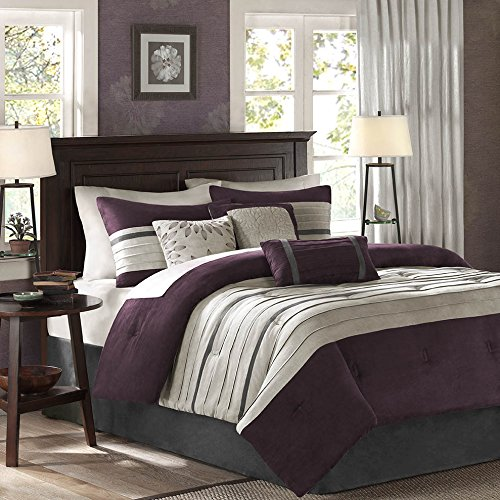Purple Comforter sets Queen - Madison Park Palmer Comforter Set, Queen, Plum
