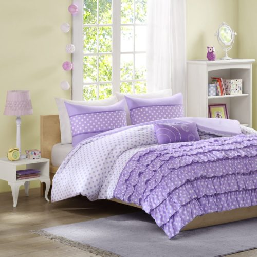 Mizone Morgan 4 Piece Purple Comforter Sets Queen