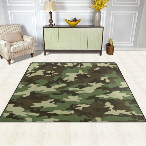 Military Camo Bedding Sets - ALAZA Military Camouflage Camo Area Rug Rugs