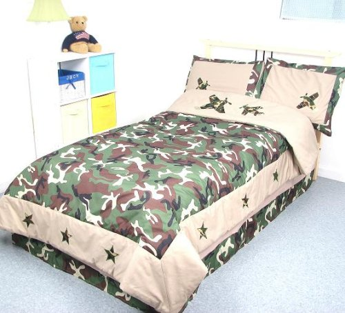 Military Camo Bedding Sets - Camouflage Army Boy Twin Kids Childrens Bedding Set 5 pcsDeal Specal