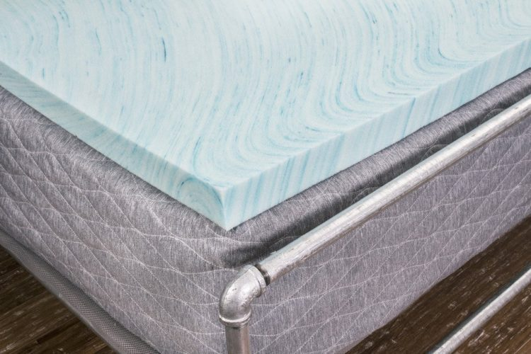 DreamFoam Bedding DF20GT2033XL 2 in Gel Swirl Memory Foam Topper XL, Twin X-Large