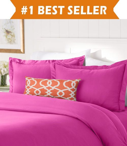 twin xl bedding sets for dorms - Elegant Comfort #1 Best Bedding Duvet Cover Set! 1500 Thread Count Egyptian Quality Luxurious Silky-Soft WRINKLE FREE 2-Piece Duvet Cover Set, Twin-Twin XL, Hot Pink