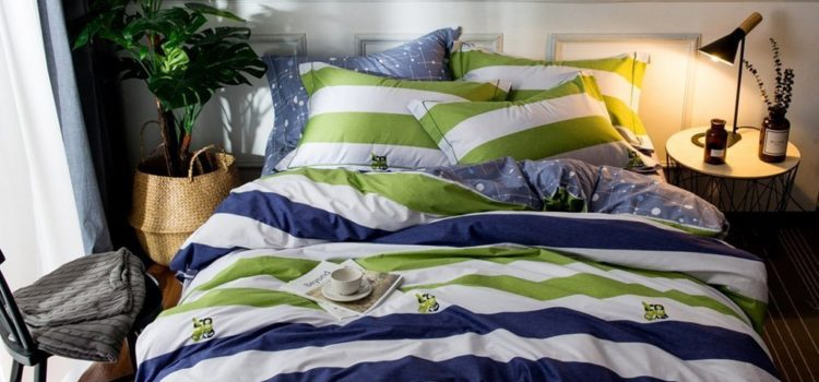 best college dorm bedding - ORoa Colorful Striped Duvet Cover Sets Twin 3 Piece Bedding Sets for Kids Boys Teens Adults with 2 Pillow Shams (Twin, Striped 1)